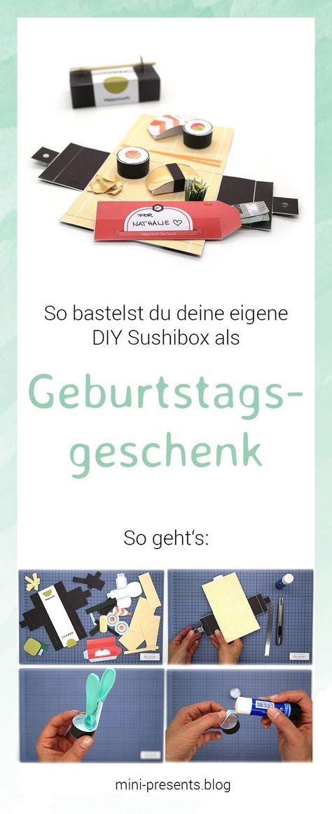 Sushi Geschenkbox Als Diy Geburtstagsgeschenk Mini Presents Blog Geschenke Diy Geburtstagsgeschenk Selbstgemachte Geburtstagsgeschenke