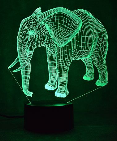 Loving This Elephant 3d Optical Illusion Color Changing Led Lamp On Zulily Zulilyfinds Decoracion De Unas