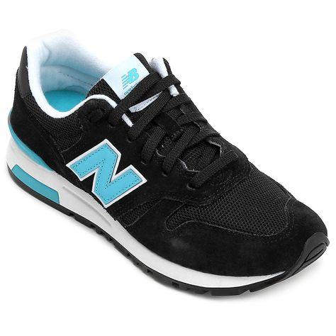 5376bf22392 Tênis New Balance 565 - Preto e Azul Turquesa