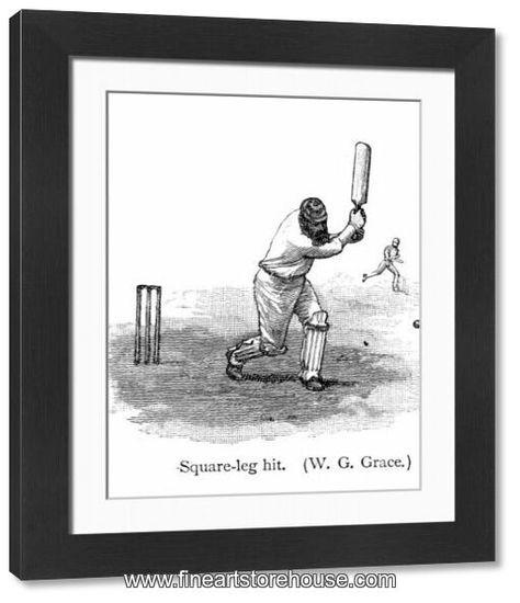 Print of Cricket - Batsman