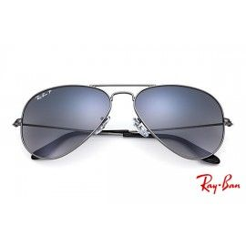 e19cb05c2908 Ray Ban RB3025 Aviator Gradient with Gunmetal frame and Blue/Grey Gradient  lenses