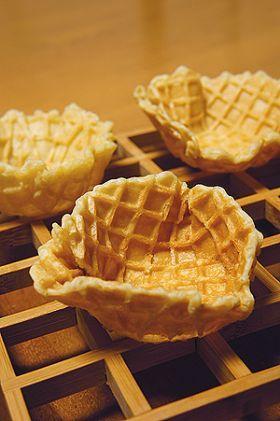 ワッフル風のピッツェルのカップ tamama お菓子 パンのレシピや作り方 cotta コッタ レシピ レシピ ピッツェル レシピ ワッフルバー