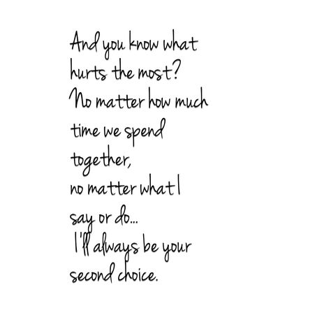 Yes yes yes.  With your close friends it really hurts when you know you'll never be more than their second choice.