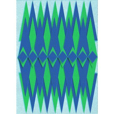 East Urban Home Abstract Wool Light Blue Area Rug Rug Size Rectangle 4 X 6 Light Blue Area Rug Blue Area Rugs Area Rugs