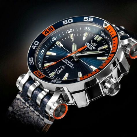 """This extra large Vostok Europe Energia Professional Dive Watch Automatic is a staggering 49 mm between the """"teeth"""" of the case in diameter and 17 mm thick."""