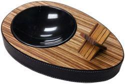 Brizard And Co Deck Ebony Wood Double Ashtray Made In Usa Ebony Wood Marble Bowl Ashtray