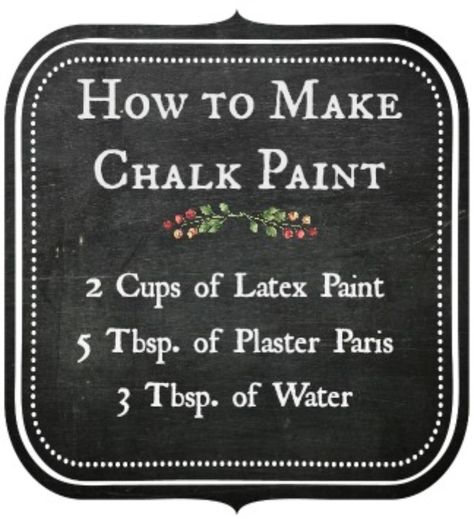 Chalk Paint Furniture - Need ideas for your furniture? - make chalk paint - chalk paint recipe Diy Chalk Paint Recipe, Make Chalk Paint, Chalk Paint Projects, Chalk Paint Furniture, Milk Paint, Homemade Chalk Paint, Chalky Paint, Chalk Art, Paint Ideas