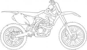 How To Draw A Dirt Bike By Dawn Bike Drawing Motorcycle Drawing