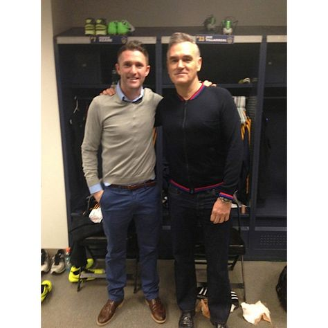Morrissey visiting his cousin Robbie Keane at an LA Galaxy game. ...Wait what!? Yup. -- World of Sport - Yahoo! Eurosport UK
