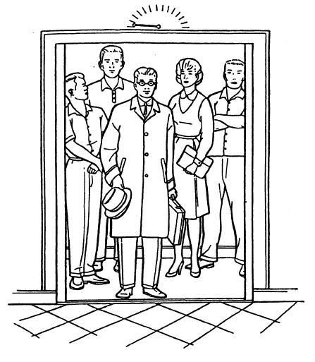 Image Result For Drawing Of People In An Elevator Coloring Books