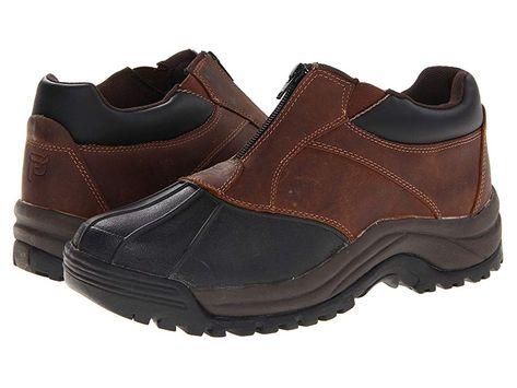 883fd0d240f93 Propet Blizzard Ankle Zip Men's Cold Weather Boots Brown/Black ...