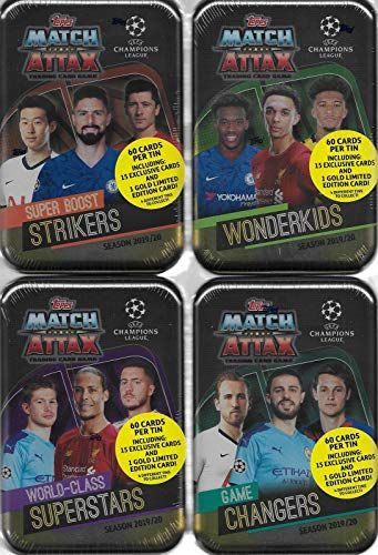 Match Attax 2019 2020 Topps Uefa Champions League Soccer Trading Card Game Sealed Mega Collectors Tins With Bonus Gold Cards And Exclusive Inserts Match Att