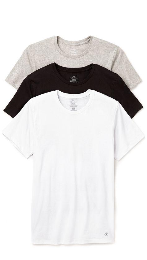c311f0bbfaa1 CALVIN KLEIN UNDERWEAR 3 Pack Cotton Classic Crew Neck T-Shirts.  #calvinkleinunderwear #cloth #t-shirts