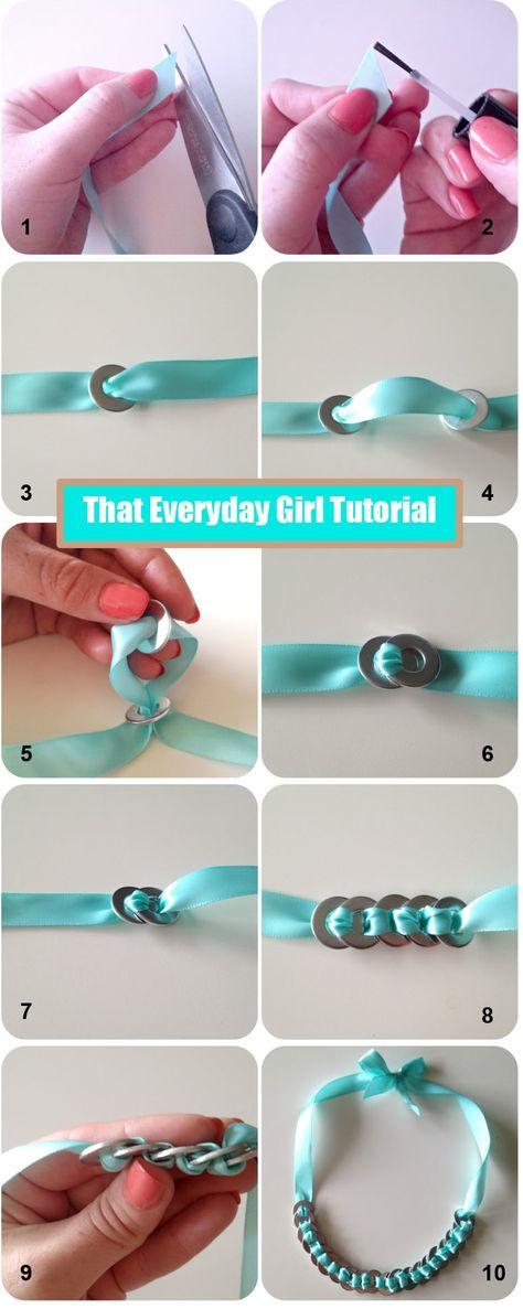 DIY : Bijoux avec des rondelles acier - Le blog de mes loisirs