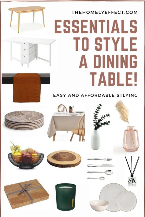 How you can style your dining table! – Easy and affordable décor to spruce up any table!