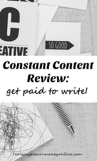 Constant Content Review - Sell Your Articles Here For $100 and Up