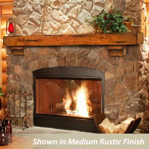 Breckenridge 48 Inch Wood Fireplace Mantel Shelf For The Home