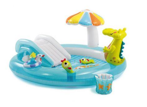 Cuscini Gioco Per Bambini.Piscine Per Bambini Playcenter Intex Alligatore Cm 203x173x89