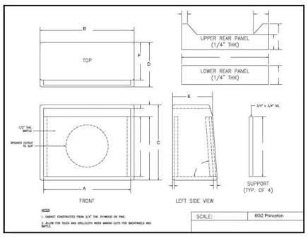 Resultado de imagem para guitar amp cabinet plans   Guitar Amp ...