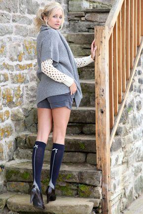 wide range excellent quality online for sale Elle Back Seam Bow Knee High Socks £4.00 | socks | Cute ...