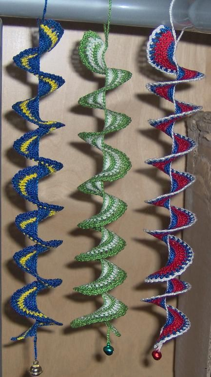 Crochet spiral with/without beads for windows or earrings