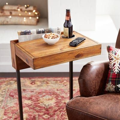 For Many Of Us The Days Of The Immovable Workstation Are Numbered And Therein Lies The Genius Of Our Greer C Table Craf Diy Sofa Table Diy Side Table C Table
