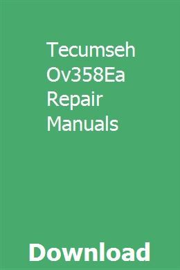 Tecumseh hssk50 parts manual   manual, how to make light, tecumseh.