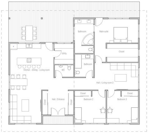 House Design House Plan Ch490 10 Affordable House Plans House Plans How To Plan