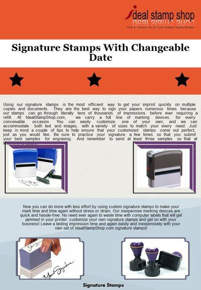 2000 Plus Printer 10 Replacement Pad Signature Stamps With