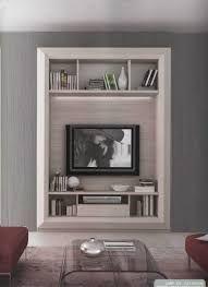 Mobile TV sospeso in legno con libreria GRETA Collezione Greta by ...