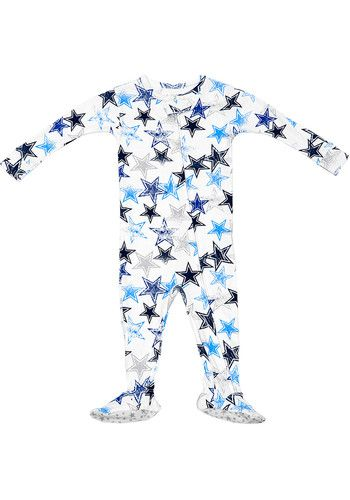 Dallas Cowboys Baby White Colby Loungewear One Piece Pajamas 41021426 Baby Cowboy Dallas Cowboys Baby One Piece Pajamas