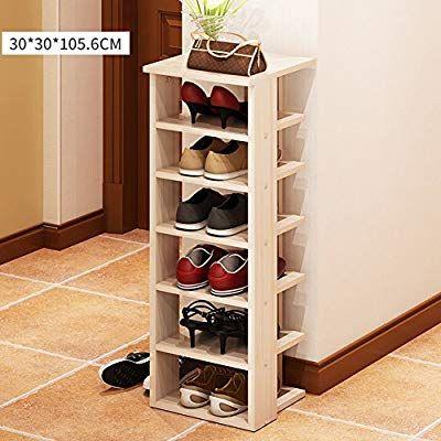 Xmzddz 6 Tier Shoes Organizer Rack Solid Wood Shoes Storage
