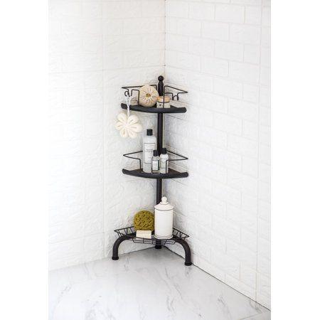 Homezone 3 Tier Adjustable Corner Shower Caddy Oil Rubbed Bronze