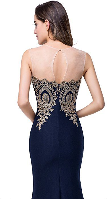 Babyonlinedress Womens Sleeveless Long Lace Evening Formal