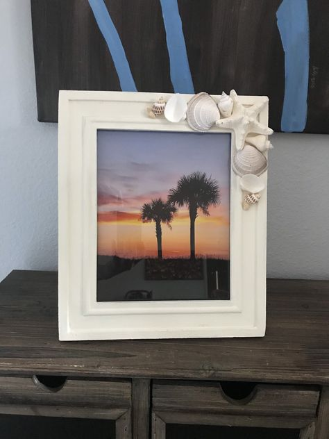 Excited to share the latest addition to my #etsy shop: Beach Frame, Shell Frame, Picture Frame 8x10 #wedding #wood #coastaltropical #8x10 #c