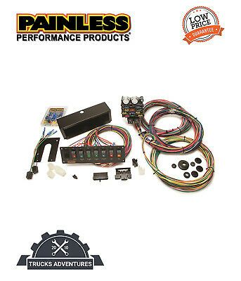 Details About Painless Wiring 50003 21 Circuit Pro Street Chassis Harness W Switch Panel In 2020 Ebay Harness Circuit
