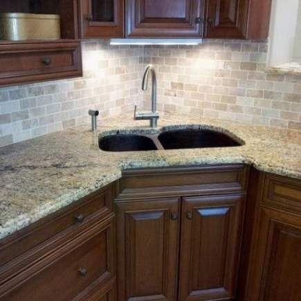 64 Ideas Kitchen Countertops Granite Corner Sink For 2019