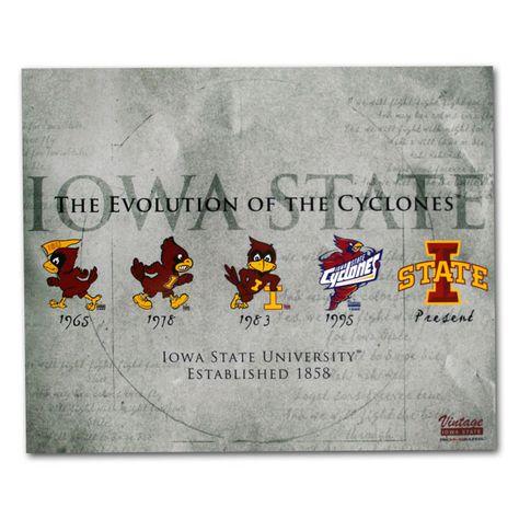 Evolution of the Cyclones Print (16x20) | Iowa State University Bookstore