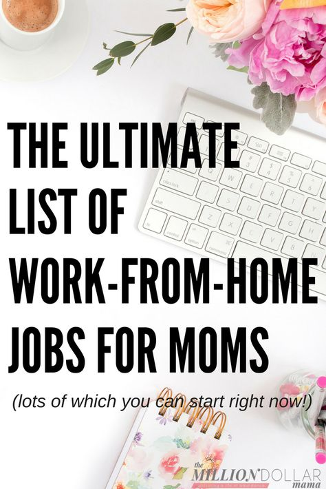 50 Online Jobs and Business Ideas for Moms
