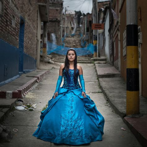 6d2f6c9adc Melany Forero poses in her quinceañera dress