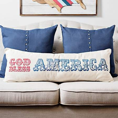 God Bless America Bench Pillow Pillows Bed Pillows 4th Of July Decorations