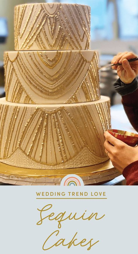We gather top bridal trends to help or brides-to-be curate their Big Day. Wedding hairstyles, engagement rings, wedding dresses, and more! Roaring 20s Wedding, Great Gatsby Wedding, Rustic Wedding, Our Wedding, Wedding Cake Designs, Art Deco Wedding Cakes, 1920s Wedding Cake, 1920s Cake, Old Hollywood Wedding