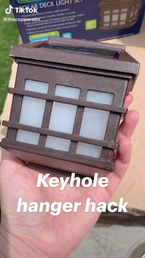 Keyhole hanger hack