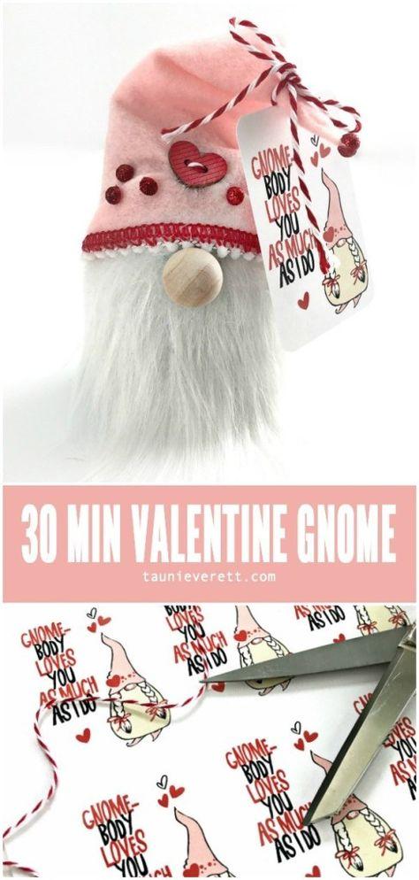 30 Minute DIY Valentine's Day Gnome | Tauni Everett
