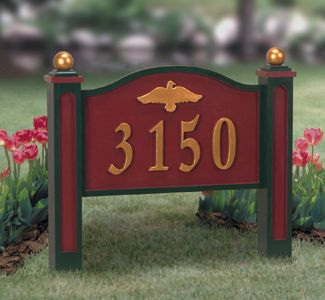 Yard Address Sign Woodcraft Pattern An Attractive Address Sign