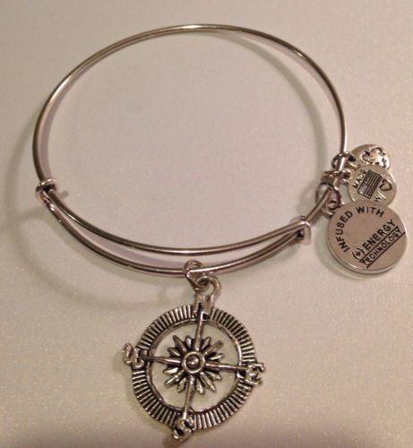 "Alex & Ani Style Charm Bracelet - ""Compass Rose"" - http://designerjewelrygalleria.com/alex-ani/alex-ani-style-charm-bracelet-compass-rose/"