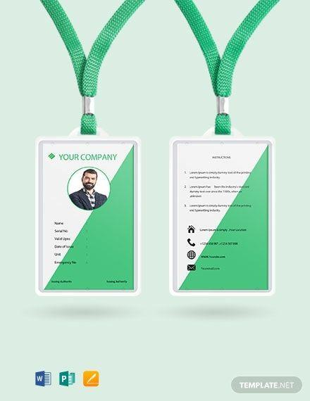 Staff Blank Id Card Template Free Jpg Word Apple Pages Publisher Template Net Id Card Template Graphic Design Business Card Identity Card Design