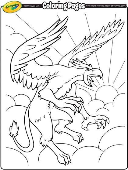 Griffon Coloring Page Crayola Com Crayola Coloring Pages Coloring Pages Free Coloring Pages