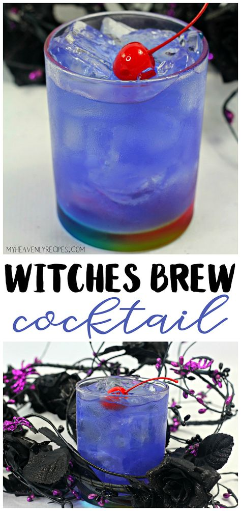 Witches brew cocktail- a fun alcoholic halloween drink to make for friends! Fun cocktail for a party. More from my siteWitches Brew – A Halloween Cocktail Mixed Drinks Alcohol, Party Drinks Alcohol, Alcohol Drink Recipes, Fun Cocktails, Cocktail Drinks, Fun Summer Drinks Alcohol, Cocktail Recipes, Bourbon Drinks, Best Party Drinks