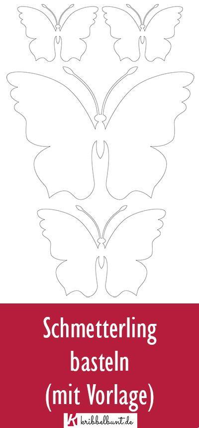 Schmetterling Vorlage Zum Ausdrucken Pdf Kribbelbunt 10